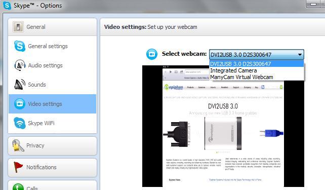 如何使用Skype广播VGA,DVI,或HDMI信号